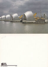1984 THE THAMES BARRIER FLOOD DEFENCES LONDON OVERSIZED UNUSED COLOUR POSTCARD