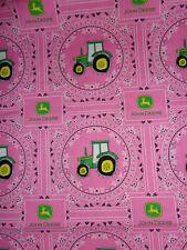 2 Yards Pink John Deere Bandana Cotton Fabric