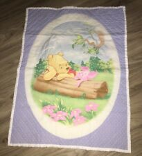 Handmade Winnie Pooh Wallhanging   / crib quilt  With Pillow 23 X 30