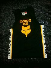 Fox Racing Moto-X 1974 Retro Throwback Rare Nba Nbl Basketball Style Jersey Sz M