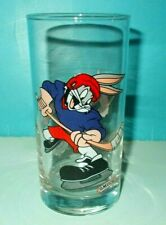 Warner Bros Looney Tunes Bugs Bunny Hockey Glass Tumbler Smuckers Jelly Jam