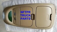 USED FORD OEM SUPERDUTY  F-250 F-350 OVERHEAD CONSOLE 2002 2004  TAN PARCHMENT