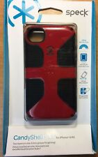 iPhone 4/4s Speck CandyShell Grip Case/Cover Pomodoro/Red/Black SPK-A0819