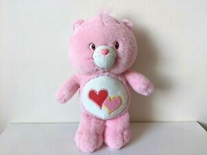 """2003 Care Bears / Glow in the Dark / Love-a-Lot Bear 12"""" Plush / Soft Toy"""