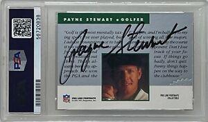 PAYNE STEWART Signed 1991 PROLINE PORTRAITS NFL Football Golf CARD PGA PSA/DNA