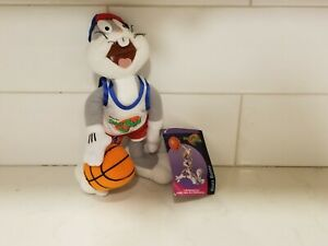 """Space Jam Bugs Bunny Looney Tunes  9"""" Plush Vtg 1996 McDonald's Happy Meal Toy"""