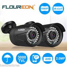 2X FLOUREON 1080P 2.0MP 3000TVL CCTV DVR Security IR Camera Outdoor Night Vision