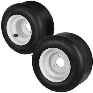 2 PCS Go Kart Wheel 3 Stud 10X4.50-5 Rim & Tyre Fast Steel Buggy Huffy Slider
