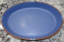 "Dansk Mesa Sky Blue Large 15"" Oval Baker Casserole Pan NICE!!"