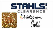 "8"" x 5 Yards - Stahls' Hologram Heat Transfer Vinyl HTV - Gold"