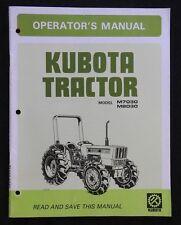ORIGINAL KUBOTA M7030 M8030 TRACTOR OPERATORS MANUAL VERY CLEAN