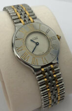 Must De Cartier 21 Ladies Steel & Gold Bracelet Quartz Watch - Classic 90s Style