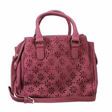 Vism Daisy Crossbody Satchel, Burgundy, Bwq003 Carrying Bag