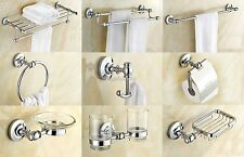 Chrome Modern Bathroom Accessories Set Wall Mounted Hardware Accessory Series