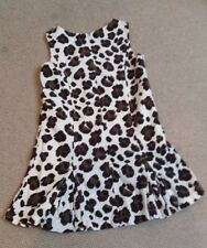 Boden Dress Pinafore Age 4-5, Animal Print Corduroy, Great Condition!