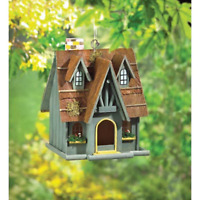 Large Bird House Wood Wooden Hanging Standing Manor Painted Birdhouse