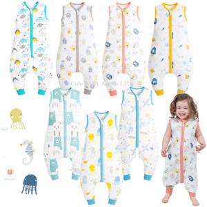 Baby & Child Split Leg Sleeping Bag 0.5 Tog Summer PJ Sleepsuits Vest Sack 0/6Yr