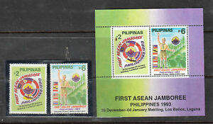 Philippine Stamps 1993 First ASEAN Scouts Jamboree Complete Set MNH