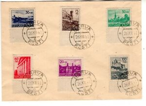WW II , 1941 ESTONIA ESTONIAN ESTLAND NARVA  GERMANY GERMAN COVER STAMPS