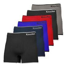 6 Mens Microfiber MS002M Boxer Briefs Underwear Seamless Compression #2 One Size