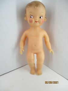 """10"""" Campbell Kids Squeaky doll no clothes 1950's?"""