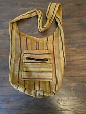 Hippie Boho Bag Purse India Yellow Brown Cross Body Shoulder Unisex