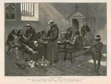 1886 - Antique Print FINE ART World Went Well Then Walter Besant Monks   (059)