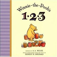 Winnie the Pooh's 1,2,3 by A. A. Milne c2009, NEW Board Book