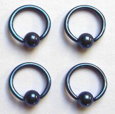 BCR Klemmkugelring TITAN blau Piercing Ring in 2 Größen lieferbar Studio Ware