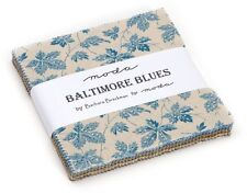 "Baltimore Blues Moda Charm Pack 42 100% Cotton 5"" Precut Fabric Quilt Squares"
