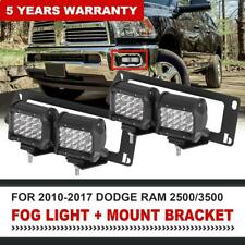 For 09-2018 Dodge Ram 1500/2500/3500+4X 18W LED Fog Light Pod+Bumper Mount Brack