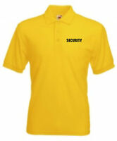 SECURITY POLO SHIRT DOORMAN BOUNCER GUARD PRINTED FRONT AND BACK ALL COLOURS