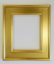 """Picture Frame- 8x10"""" Bright Gold Color- 3 3/4"""" Wide- Wood/Gesso- GLASS #M6G"""
