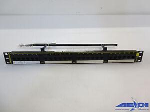ORTRONICS OR-851044265 4-PORT PANEL 110-MOD HIGH DENS. BLACK 1U