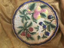 "Fitz And Floyd 8 1/2"" Fruit Canape Plate, Mint, Absolutely Gorgeous"