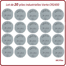 20 pilas de botón CR2450 litio Varta Industrial