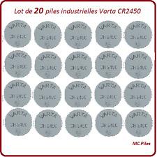 20 piles boutons CR2450 lithium Varta Industrielle, livraison rapide et gratuite