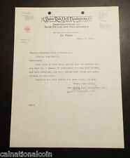1918 The Denver Rock Drill Manufacturing Co. letterhead letter