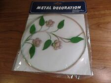 Hampton Direct Metal Deocration-Purple Flowers #2526