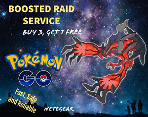 💀 Pokémon Go BOOSTED YVELTAL RAID✔️ GUARANTEED CATCH✔ Buy 3, Get 1 FREE 💀