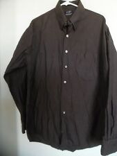 VTG Gitman Bros  Brown Pin Striped mens size L  Button-Front Dress Shirt EUC
