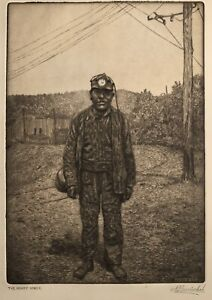 Original Etching/Drypoint Signed Nicholas Bervinchak Minersville Pa