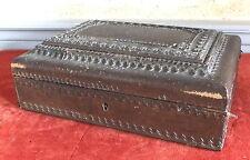 boite cuir coffret necessaire couture ancien gainier Bordeaux