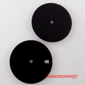 fit NH35A NH36A MIYOTA 8215 29mm Non-Index Sterile Black Watch Dial Face