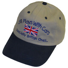 Still Plays With Cars Especially British Ones...  Embroidered hat