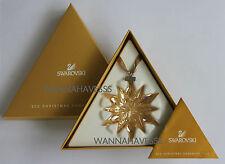 SWAROVSKI 2011 gold/golden shadow star/snowflake member ornament, NEW IN BOX !
