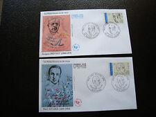 FRANCE - 2 enveloppes 1er jour 1991 (personnage celebre) (cy31) french