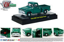 GREEN 1958 GMC FLEET OPTION TRUCK M2 MACHINES 1:64 SCALE DIECAST METAL MODEL