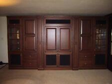 Jay Rambo Custom 14' Foot Solid Cherry Wood Cabinet Entertainment Center