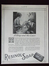 1920 Resinol Soap A King And His Court Original Advertisement